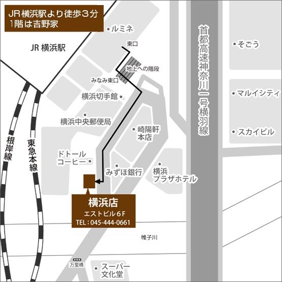 ゴールドプラザ横浜店の地図画像