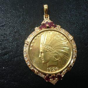 K21.6 インディアン金貨 ペンダントトップ