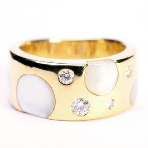 田崎真珠(TASAKI) ダイヤモンドシェルリングの画像