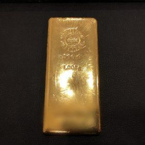 金のインゴット画像