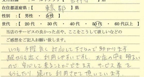 50代女性東京都-ゴールドプラザ吉祥寺店21
