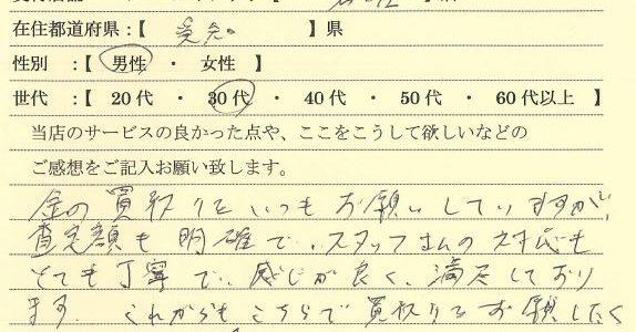 30代男性愛知県-ゴールドプラザ名古屋栄店20