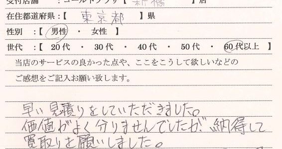 60代男性東京都-ゴールドプラザ新橋店21