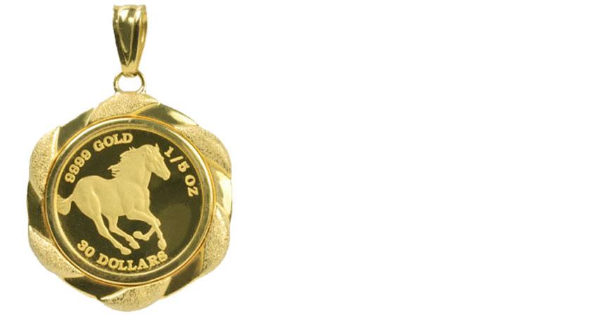 K24の金貨画像ホース金貨