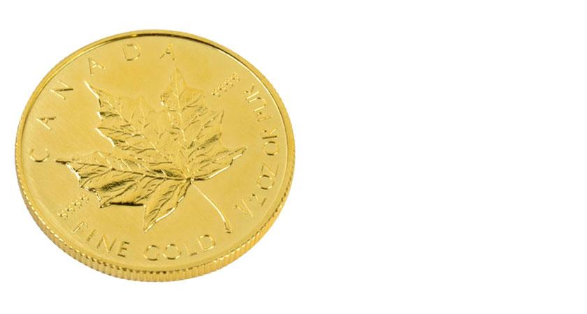 K24の金貨画像メイプルリーフ金貨