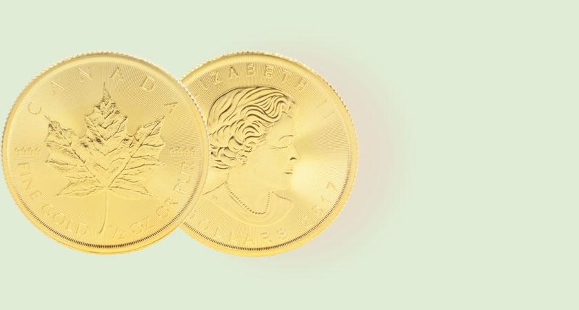 メイプルリーフ金貨画像