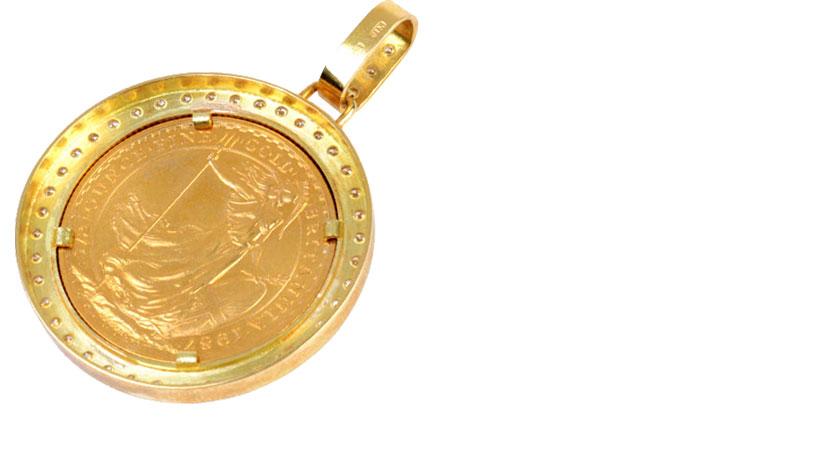 K22金貨の画像ブリタニア金貨