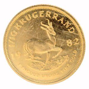 クルーガーランド金貨 1/10オンス 画像