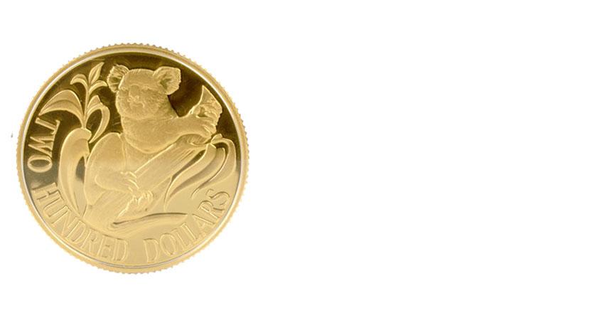 K22金貨の画像コアラ金貨