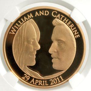 大宮店金貨買取K22 ウィリアム&キャサリン妃 ロイヤルウェディング 金貨 画像
