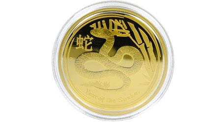 干支金貨-蛇
