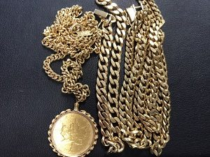 金貨ネックレスブレスレット画像