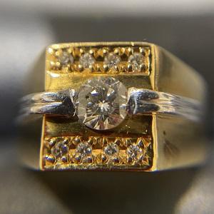 K18ダイヤモンドリング画像