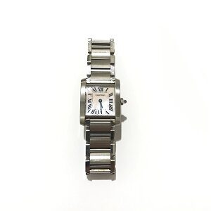 カルティエ(Cartier)タンクフランセーズSMピンクシェル文字盤時計W51028Q3買取実績画像