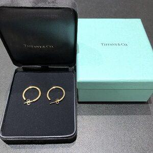 ティファニー(Tiffany&Co)YG750K18メトロフープミディアムピアスメレダイヤ買取実績画像