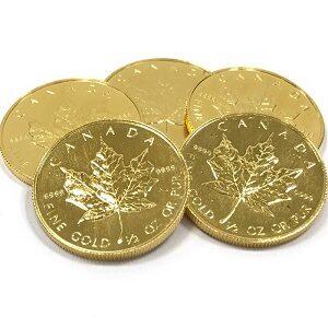 K24メイプルリーフ金貨1/2オンス買取実績画像