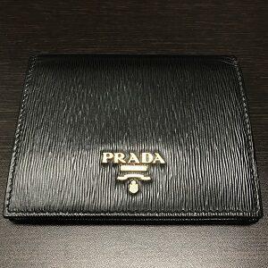 プラダ(PRADA)財布ブラックサフィアーノミニ1MV204買取実績画像