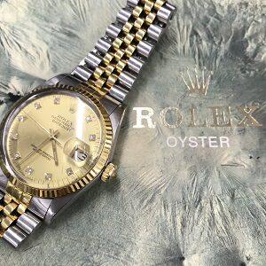 ロレックス(ROLEX)デイトジャストRef.16013旧ダイヤ10P自動巻き買取実績画像