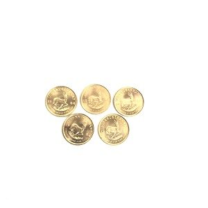 K22クルーガーランド金貨1/10オンス×5枚買取実績画像